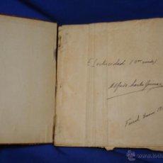 Libros antiguos: ELECTRICIDAD 3 CURSO - LIBRO MANUSCRITO - FERROL ENERO 1928. Lote 48881011