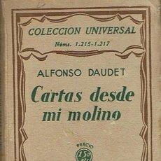 Libros antiguos: CARTAS DESDE MI MOLINO ALFONSO DAUDET 1931. Lote 48931118