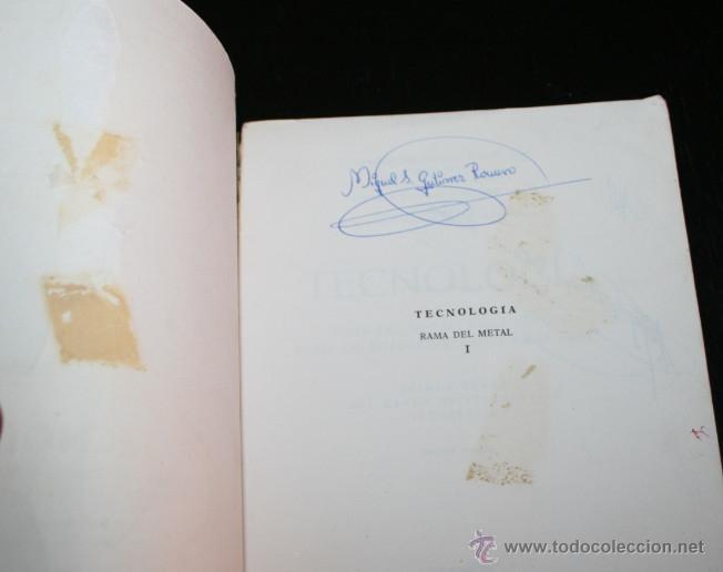 Libros antiguos: FORMACION PROFESIONAL INDUSTRIAL, TECNOLOGIA RAMA METAL MINERA AUTOMOVILISMO TEXTIL, DON BOSCO 1970 - Foto 3 - 48990442