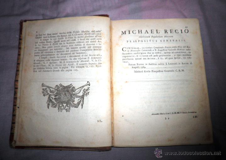 Libros antiguos: COMPENDIO STORICO DELLA VITA DI F.CARACCIOLO - AÑO 1805 - IN 4º. - Foto 5 - 49017302