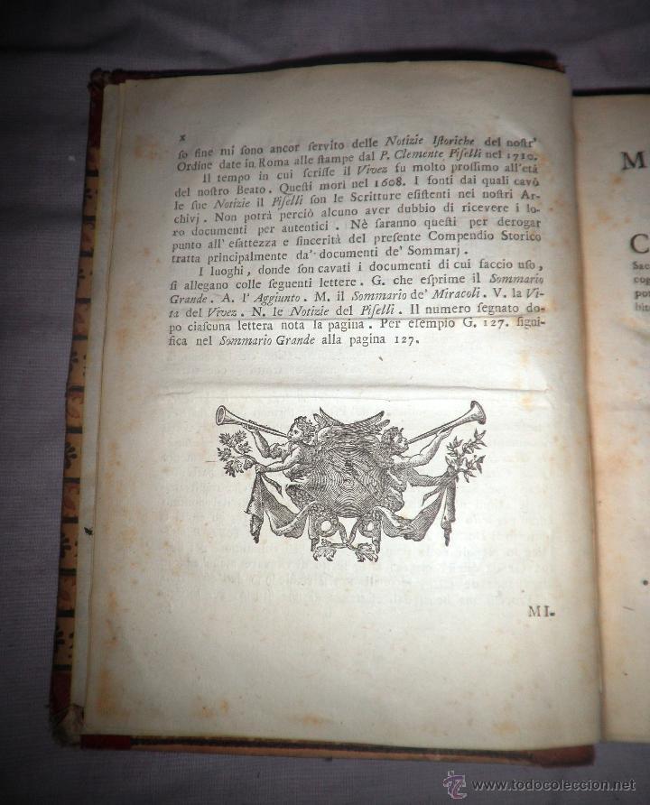 Libros antiguos: COMPENDIO STORICO DELLA VITA DI F.CARACCIOLO - AÑO 1805 - IN 4º. - Foto 6 - 49017302