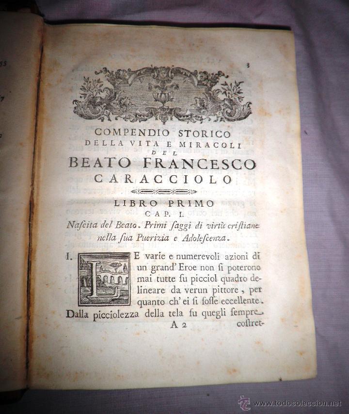 Libros antiguos: COMPENDIO STORICO DELLA VITA DI F.CARACCIOLO - AÑO 1805 - IN 4º. - Foto 7 - 49017302