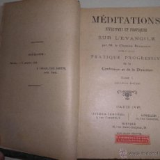 Libros antiguos: MEDITATIONS AFFECTIVES ET PRATIQUES SUR L'EVANGILE - TOME I. 1912. Lote 49019253