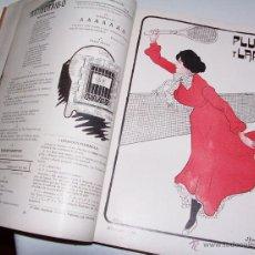 Libros antiguos: PLUMA Y LAPIZ. 1903. TOMO DE 27 REVISTAS ENCUADERNADAS. Lote 49034055