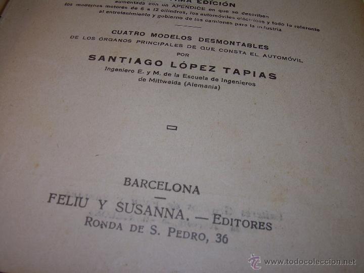 Libros antiguos: LIBRO..COMO SE CONDUCE Y MANEJA UN AUTOMOVIL..MANUAL DEL CHAUFFEUR...AÑO..1.922..CON MUCHOS GRABADOS - Foto 4 - 49073807