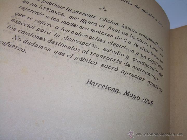 Libros antiguos: LIBRO..COMO SE CONDUCE Y MANEJA UN AUTOMOVIL..MANUAL DEL CHAUFFEUR...AÑO..1.922..CON MUCHOS GRABADOS - Foto 5 - 49073807