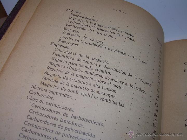 Libros antiguos: LIBRO..COMO SE CONDUCE Y MANEJA UN AUTOMOVIL..MANUAL DEL CHAUFFEUR...AÑO..1.922..CON MUCHOS GRABADOS - Foto 7 - 49073807