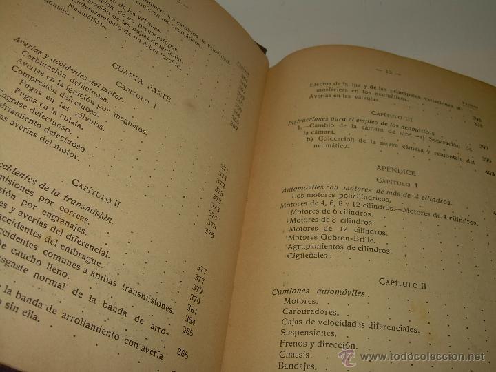 Libros antiguos: LIBRO..COMO SE CONDUCE Y MANEJA UN AUTOMOVIL..MANUAL DEL CHAUFFEUR...AÑO..1.922..CON MUCHOS GRABADOS - Foto 12 - 49073807