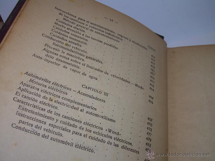 Libros antiguos: LIBRO..COMO SE CONDUCE Y MANEJA UN AUTOMOVIL..MANUAL DEL CHAUFFEUR...AÑO..1.922..CON MUCHOS GRABADOS - Foto 13 - 49073807