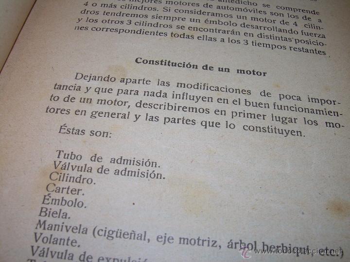 Libros antiguos: LIBRO..COMO SE CONDUCE Y MANEJA UN AUTOMOVIL..MANUAL DEL CHAUFFEUR...AÑO..1.922..CON MUCHOS GRABADOS - Foto 15 - 49073807