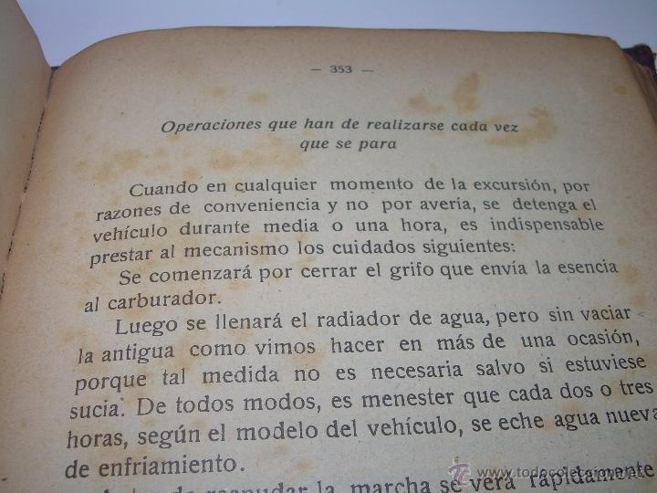 Libros antiguos: LIBRO..COMO SE CONDUCE Y MANEJA UN AUTOMOVIL..MANUAL DEL CHAUFFEUR...AÑO..1.922..CON MUCHOS GRABADOS - Foto 20 - 49073807