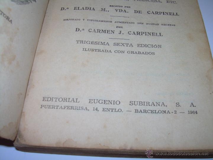 Libros antiguos: CARMENCITA O LA BUENA COCINERA. - Foto 5 - 49086608
