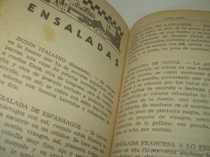 Libros antiguos: CARMENCITA O LA BUENA COCINERA. - Foto 9 - 49086608