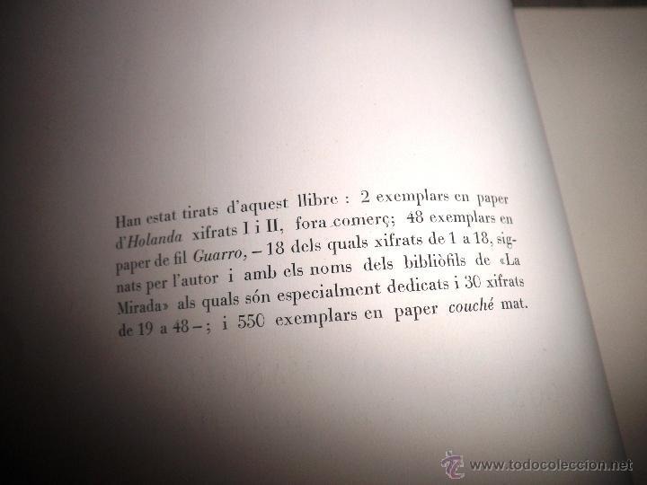 Libros antiguos: VIDA DE MANOLO - ANY 1928 - JOSEP PLA - EDICION NUMERADA CON GRABADOS. - Foto 3 - 49114393