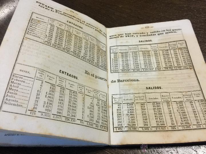 Libros antiguos: Curioso y antiguo ALMANAQUE del DIARIO DE BARCELONA. Año 1858. Calendario. 191 paginas. - Foto 4 - 49126228