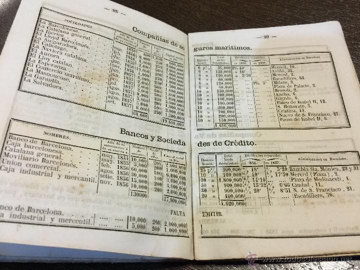 Libros antiguos: Curioso y antiguo ALMANAQUE del DIARIO DE BARCELONA. Año 1858. Calendario. 191 paginas. - Foto 5 - 49126228