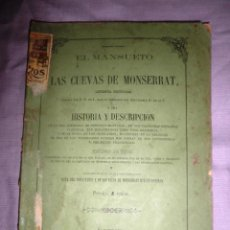 Libros antiguos: LAS CUEVAS DE MONSERRAT - AÑO 1860 - MUY RARO.. Lote 49191134