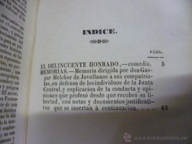 Libros antiguos: OBRAS DE DON GASPAR MELCHOR JOVELLANOS .- Tomo V - COMEDIA - El delincuente honrado - Jovellanos. G - Foto 10 - 49203557