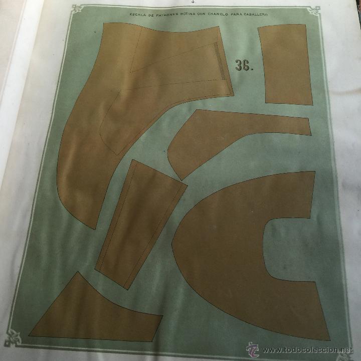 Libros antiguos: Espectacular libro ZAPATERIA ESPAÑOLA.Tratado de corte y preparacion. Miguel Valls. Tortosa. 61x44cm - Foto 6 - 49204921