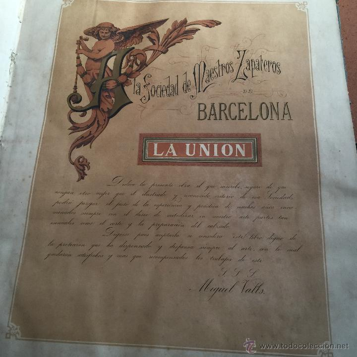 Libros antiguos: Espectacular libro ZAPATERIA ESPAÑOLA.Tratado de corte y preparacion. Miguel Valls. Tortosa. 61x44cm - Foto 14 - 49204921