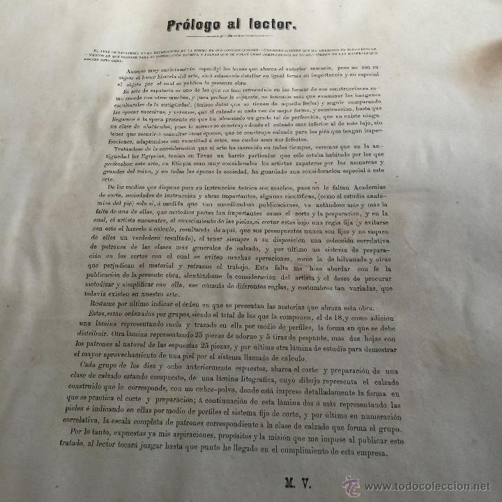 Libros antiguos: Espectacular libro ZAPATERIA ESPAÑOLA.Tratado de corte y preparacion. Miguel Valls. Tortosa. 61x44cm - Foto 16 - 49204921