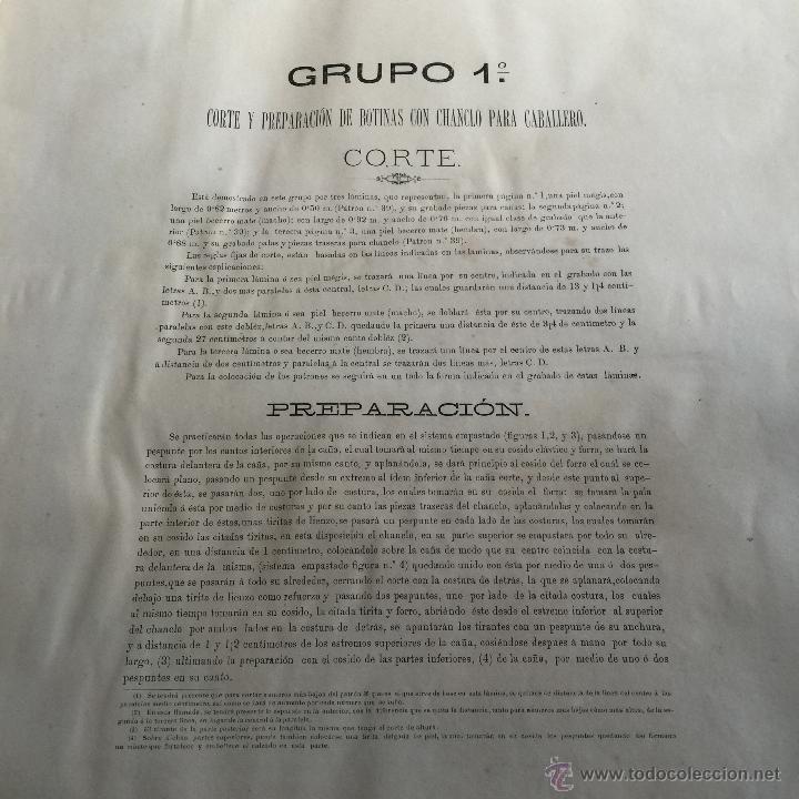Libros antiguos: Espectacular libro ZAPATERIA ESPAÑOLA.Tratado de corte y preparacion. Miguel Valls. Tortosa. 61x44cm - Foto 17 - 49204921