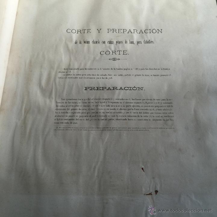 Libros antiguos: Espectacular libro ZAPATERIA ESPAÑOLA.Tratado de corte y preparacion. Miguel Valls. Tortosa. 61x44cm - Foto 18 - 49204921