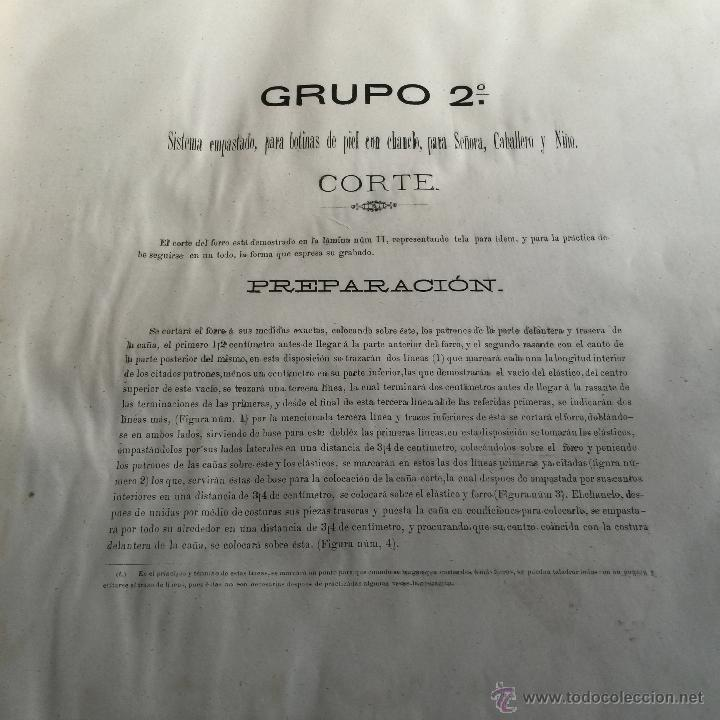 Libros antiguos: Espectacular libro ZAPATERIA ESPAÑOLA.Tratado de corte y preparacion. Miguel Valls. Tortosa. 61x44cm - Foto 20 - 49204921