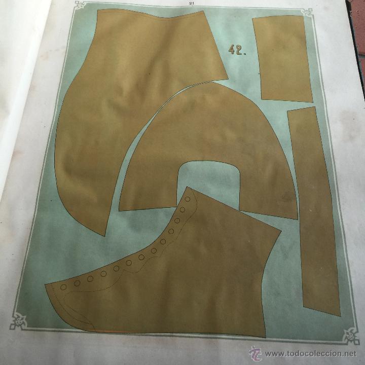 Libros antiguos: Espectacular libro ZAPATERIA ESPAÑOLA.Tratado de corte y preparacion. Miguel Valls. Tortosa. 61x44cm - Foto 24 - 49204921