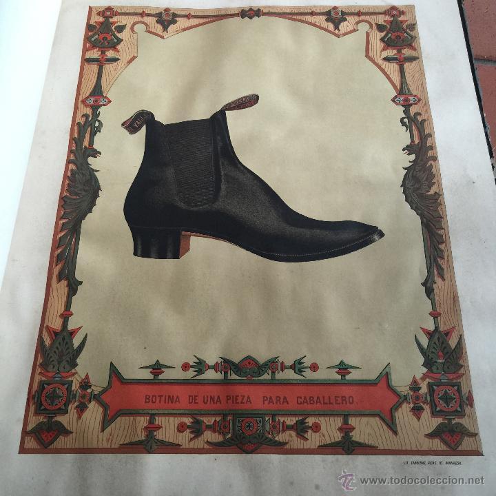 Libros antiguos: Espectacular libro ZAPATERIA ESPAÑOLA.Tratado de corte y preparacion. Miguel Valls. Tortosa. 61x44cm - Foto 27 - 49204921