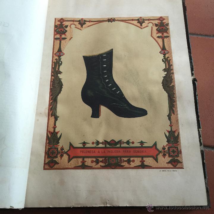 Libros antiguos: Espectacular libro ZAPATERIA ESPAÑOLA.Tratado de corte y preparacion. Miguel Valls. Tortosa. 61x44cm - Foto 30 - 49204921