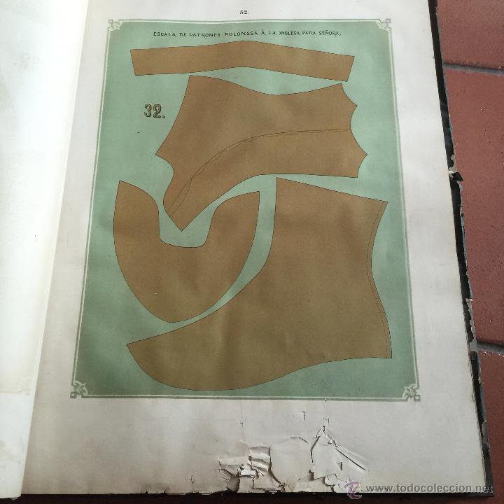 Libros antiguos: Espectacular libro ZAPATERIA ESPAÑOLA.Tratado de corte y preparacion. Miguel Valls. Tortosa. 61x44cm - Foto 31 - 49204921