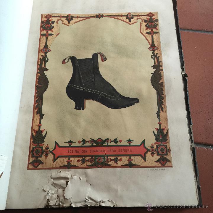 Libros antiguos: Espectacular libro ZAPATERIA ESPAÑOLA.Tratado de corte y preparacion. Miguel Valls. Tortosa. 61x44cm - Foto 33 - 49204921