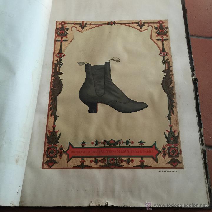 Libros antiguos: Espectacular libro ZAPATERIA ESPAÑOLA.Tratado de corte y preparacion. Miguel Valls. Tortosa. 61x44cm - Foto 35 - 49204921