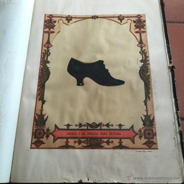 Libros antiguos: Espectacular libro ZAPATERIA ESPAÑOLA.Tratado de corte y preparacion. Miguel Valls. Tortosa. 61x44cm - Foto 36 - 49204921