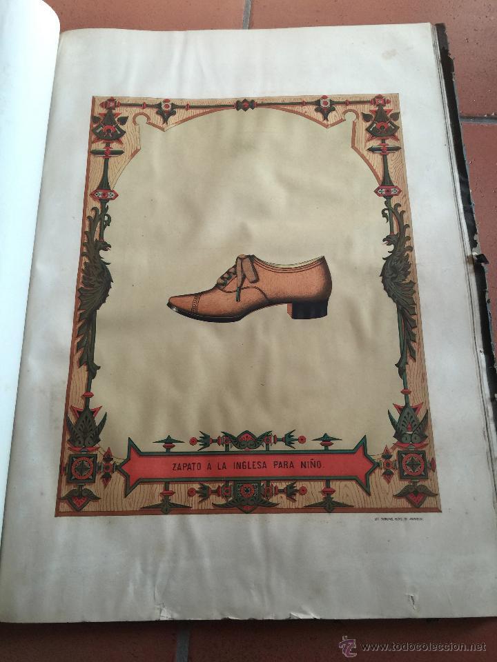 Libros antiguos: Espectacular libro ZAPATERIA ESPAÑOLA.Tratado de corte y preparacion. Miguel Valls. Tortosa. 61x44cm - Foto 37 - 49204921