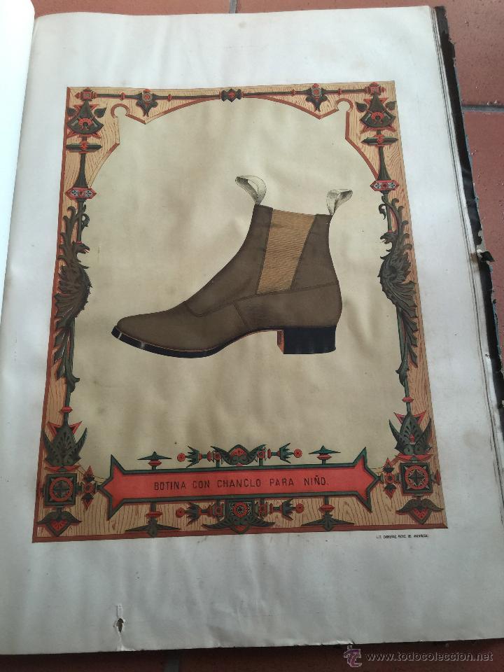 Libros antiguos: Espectacular libro ZAPATERIA ESPAÑOLA.Tratado de corte y preparacion. Miguel Valls. Tortosa. 61x44cm - Foto 38 - 49204921
