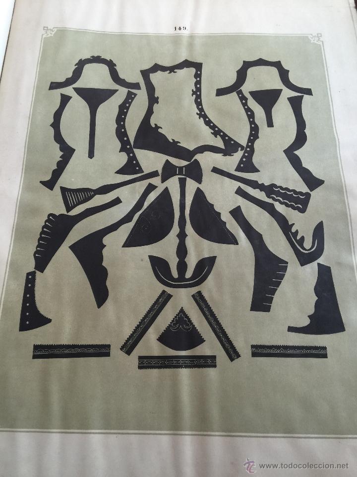 Libros antiguos: Espectacular libro ZAPATERIA ESPAÑOLA.Tratado de corte y preparacion. Miguel Valls. Tortosa. 61x44cm - Foto 45 - 49204921