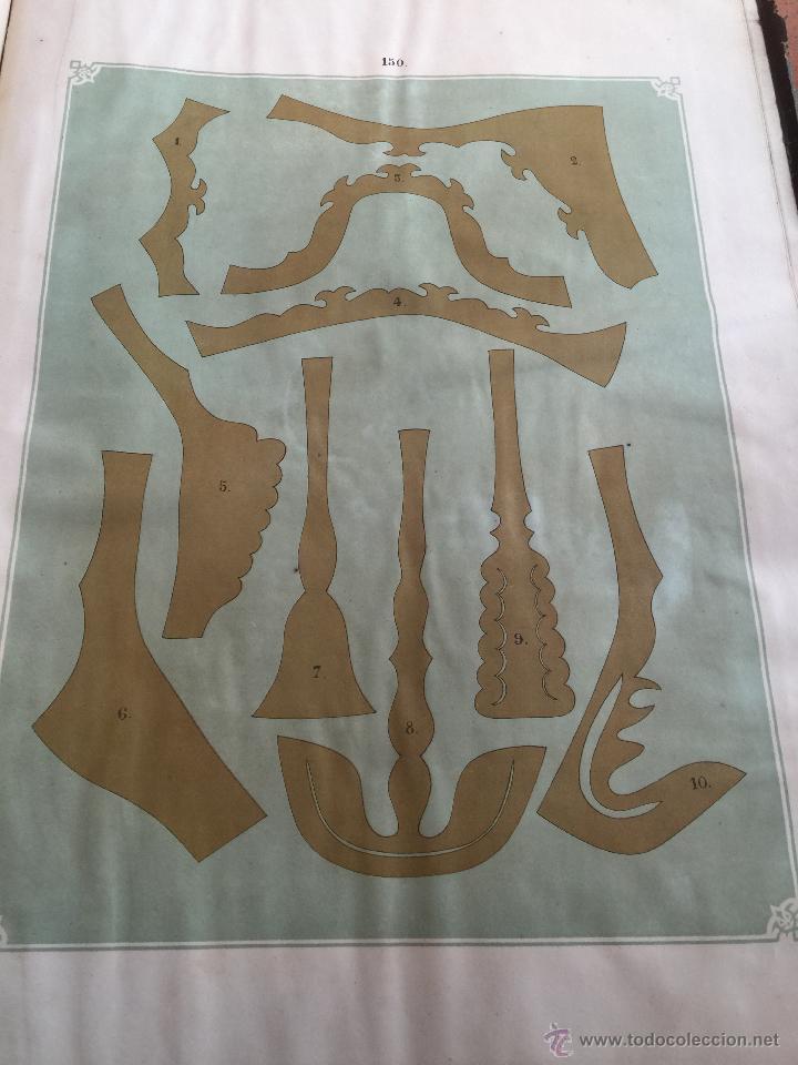 Libros antiguos: Espectacular libro ZAPATERIA ESPAÑOLA.Tratado de corte y preparacion. Miguel Valls. Tortosa. 61x44cm - Foto 46 - 49204921