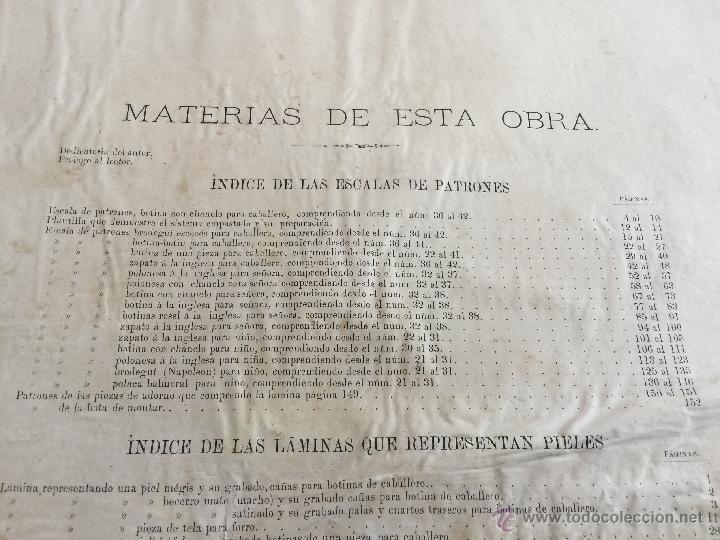 Libros antiguos: Espectacular libro ZAPATERIA ESPAÑOLA.Tratado de corte y preparacion. Miguel Valls. Tortosa. 61x44cm - Foto 50 - 49204921