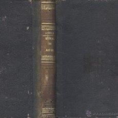 Libros antiguos: FERMÍN ABELLA. MANUAL DE AGUAS, EXPROPIACIÓN Y COLONIAS AGRÍCOLAS. MADRID, 1877. EDM. Lote 49200286