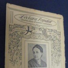 Libros antiguos: LECTURA POPULAR. BIBLIOTECA D'AUTORS CATALANS. Nº 106. VICTORIA PENYA D'AMER. POESIES.. Lote 296807373