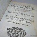 Libros antiguos: LIBRO DE PERGAMINO...FUNDAMENTA STILI CULTIORIS...AÑO 1.743. Lote 49290960