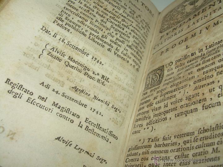 Libros antiguos: LIBRO DE PERGAMINO...FUNDAMENTA STILI CULTIORIS...AÑO 1.743 - Foto 8 - 49290960