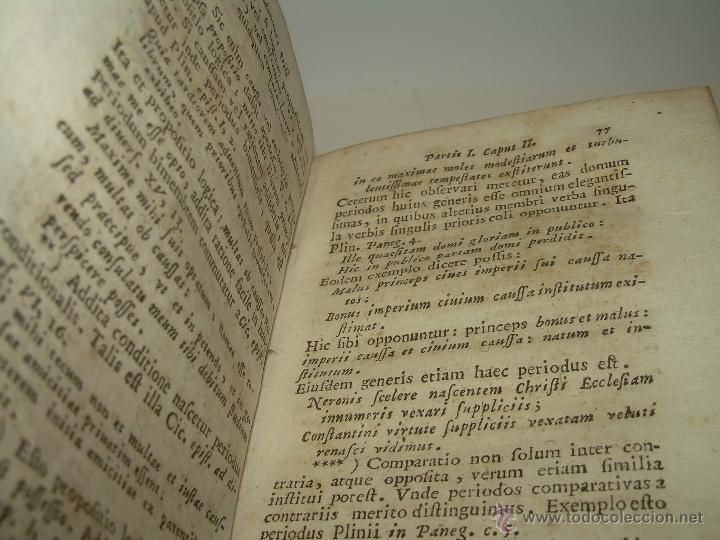 Libros antiguos: LIBRO DE PERGAMINO...FUNDAMENTA STILI CULTIORIS...AÑO 1.743 - Foto 9 - 49290960