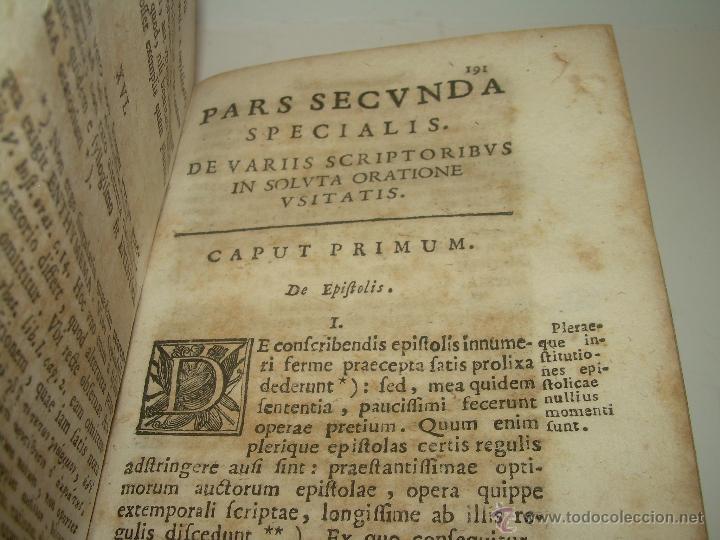 Libros antiguos: LIBRO DE PERGAMINO...FUNDAMENTA STILI CULTIORIS...AÑO 1.743 - Foto 10 - 49290960