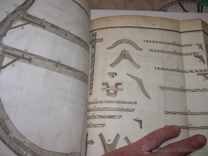 Libros antiguos: IMPORTANTE LIBRO POR SU INFINIDAD DE GRABADOS.AÑO..1.771....ARCHITECTURE CIVILE, MILITAIRE ET NAVALE - Foto 35 - 49292341