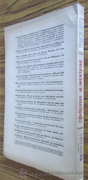 Libros antiguos: CONSERVAS ALIMENTICIAS -- Preparación de las carnes, pescado, leche, manteca, frutos, hortalizas - Foto 2 - 49336562