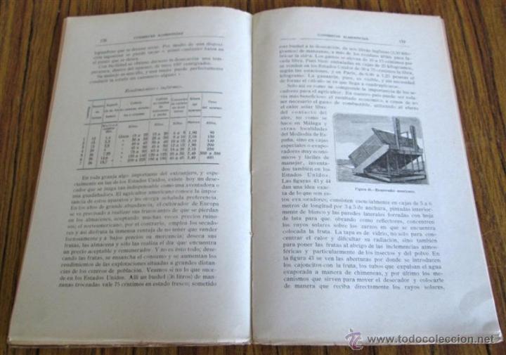Libros antiguos: CONSERVAS ALIMENTICIAS -- Preparación de las carnes, pescado, leche, manteca, frutos, hortalizas - Foto 6 - 49336562