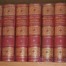 Libros antiguos: CANTU, CÉSAR: HISTORIA UNIVERSAL. 1873. 10 VOLS.. Lote 49353939
